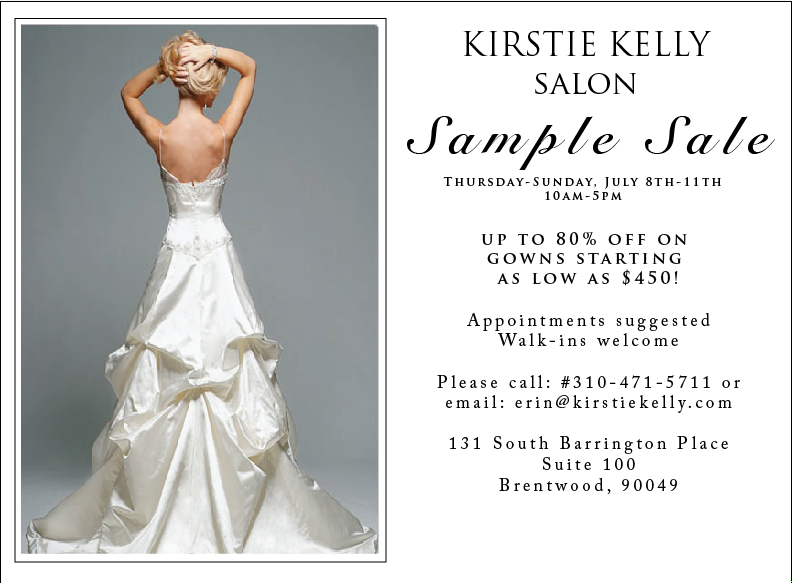 Kirstie Kelly Sample Sale Posted by Jill LaFleur at 730 AM 1 comments