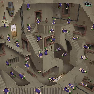Lemmings vs Escher Optical Illusion