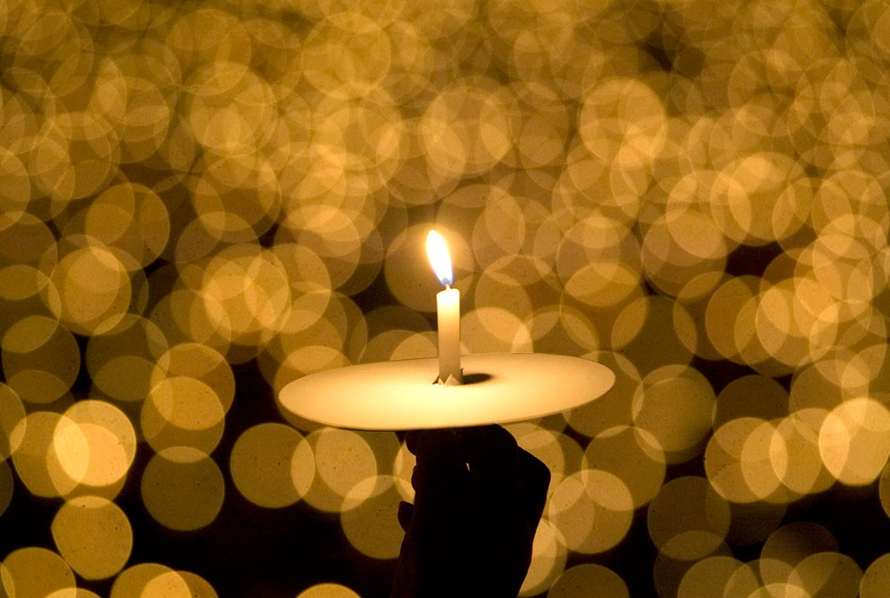 Christmas Wallpapers Church Candles On Eve Wallpaper