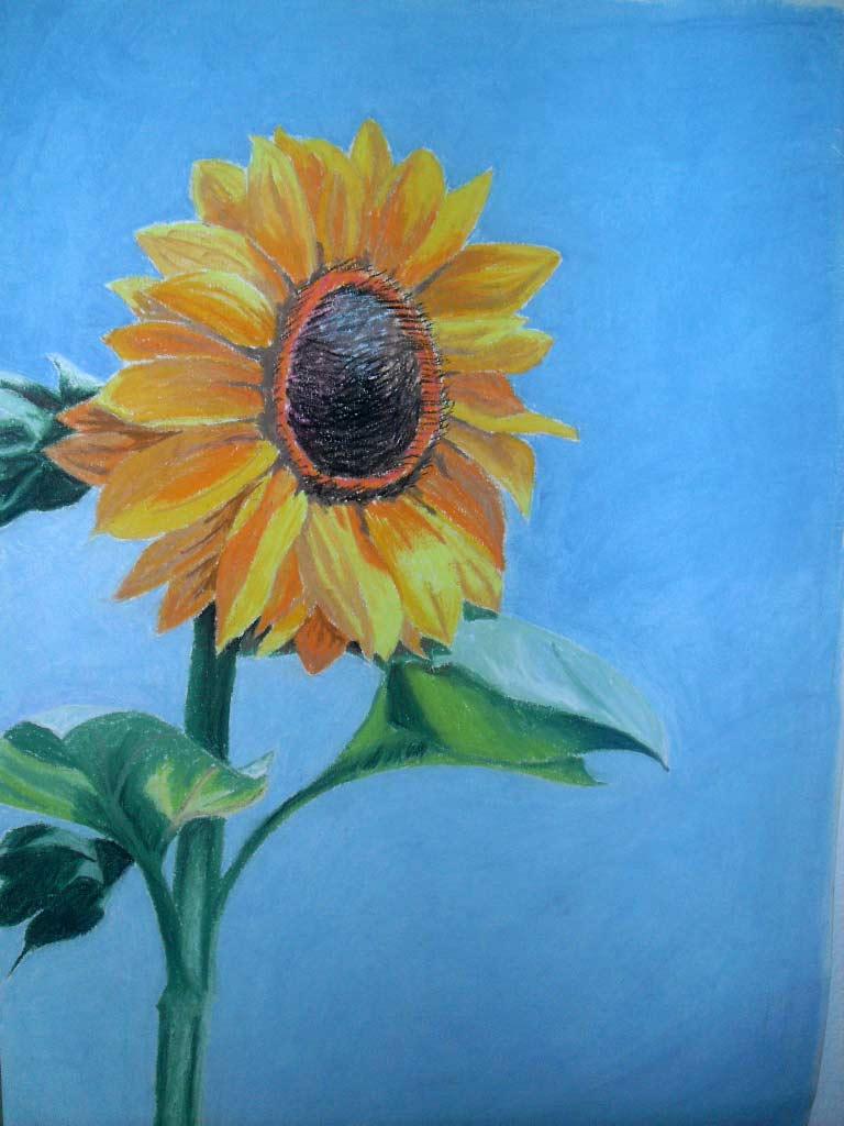 joyful art sunflower inspiration. Black Bedroom Furniture Sets. Home Design Ideas