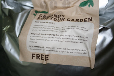 Coffee grounds for the garden from Starbucks. Photo copyright www.DanielleCopeland.com