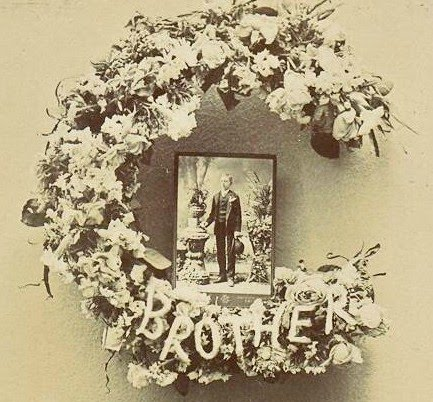 Funeral Flowers Cabinet Card Photographs