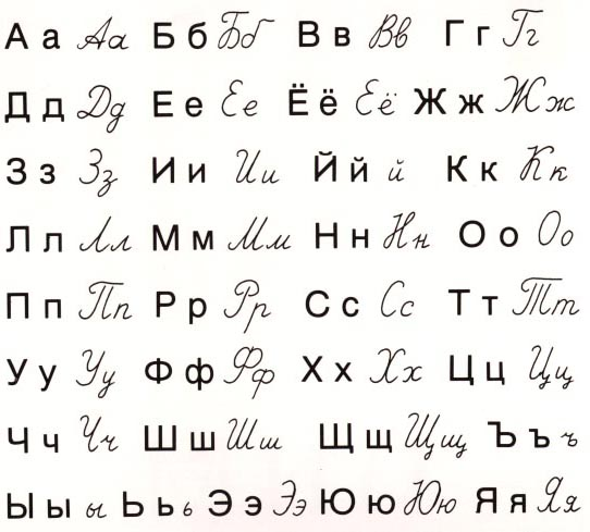Witty image in russian alphabet printable