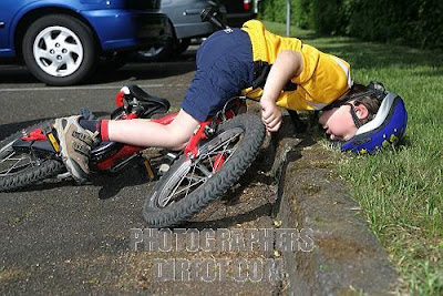 Bike  on Can Emphasize With This Kid  On My Recent Vacation I Took A Spill