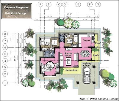 Nsc properties sdn bhd kami merealisasikan impian anda rumah banglo 1 tingkat di kg for Arkitek home plans