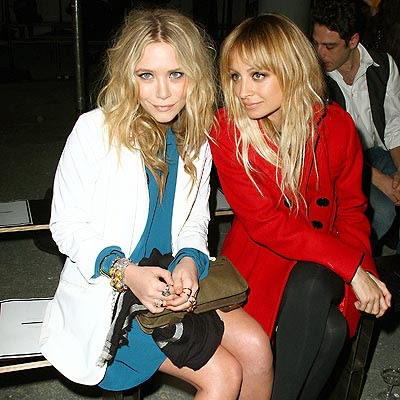 Mary Kate Olsen Nicole Richie Front Row at Proenza Schouler Fashion Show  :  jacket designer celebrity fashion show
