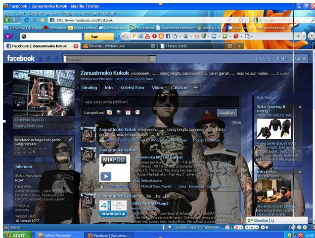 Ganti Background Facebook