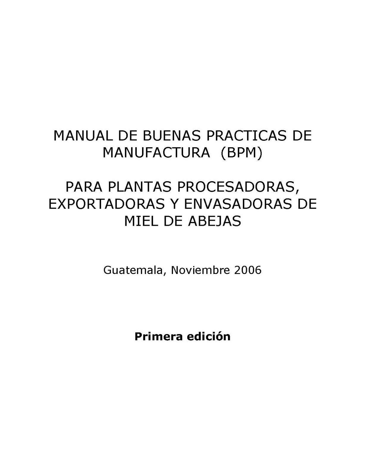 Hades Manual De Buenas Pr Cticas De Manufactura Bpm: manual de buenas practicas de manufactura pdf