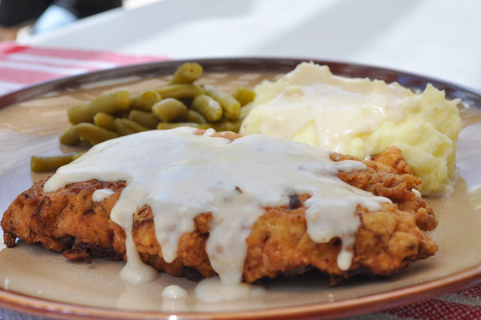 ... chicken fried steak dinner french country bread hearty lunch steak
