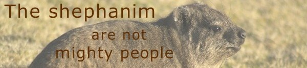 The shephanim are not mighty people