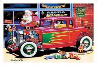 HOT RODS and JALOPIES: TOP 10 Christmas Hot Rod Art...
