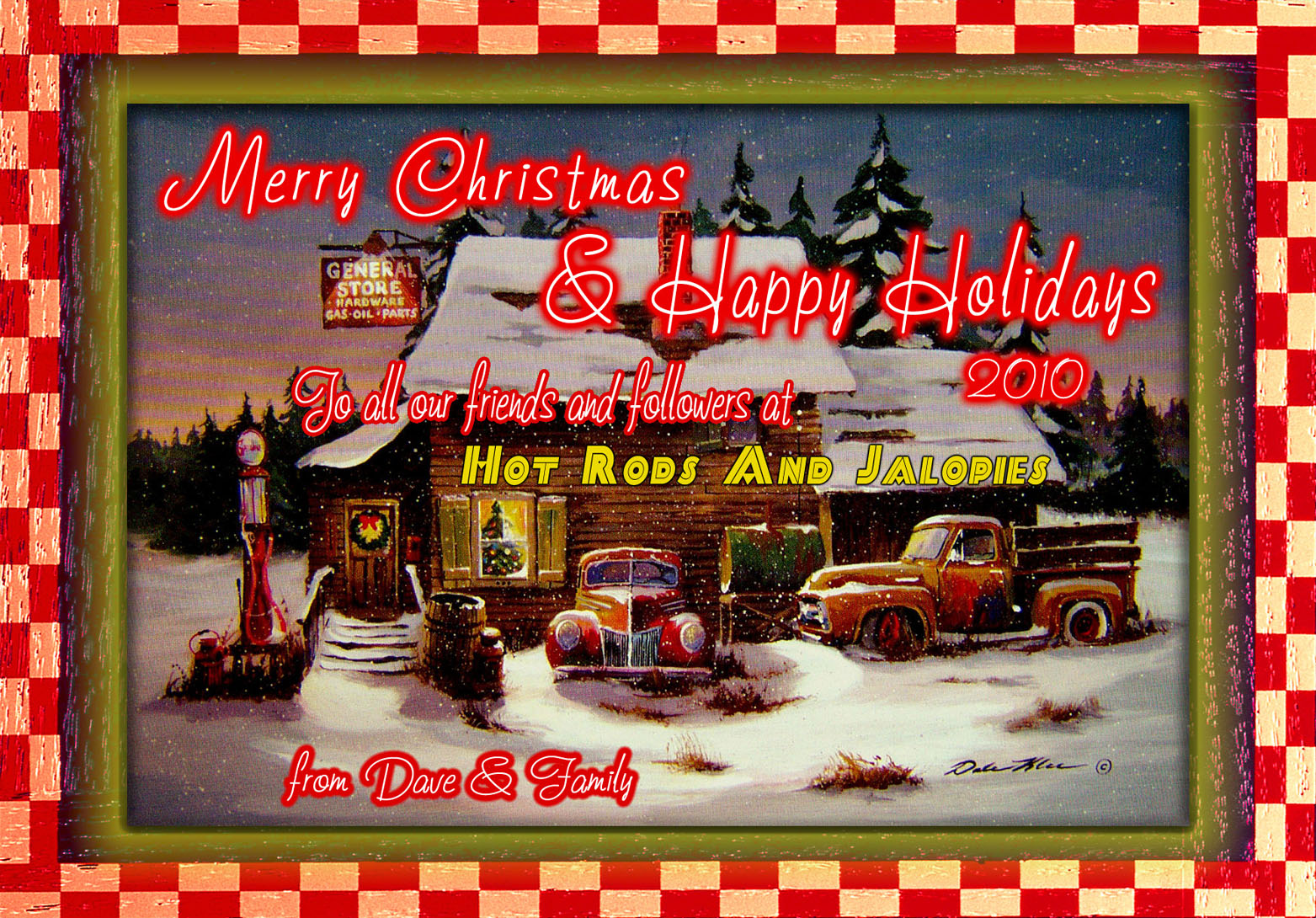 Hot Rods And Jalopies Merry Christmas 2010d A Few More