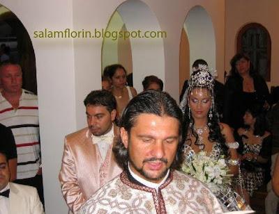 florin salam si nevasta stefania in biserica