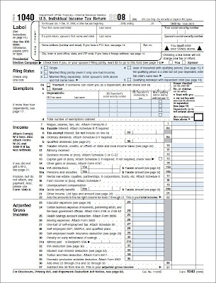 2008 Irs Tax Form 1040 | IRS Tax World