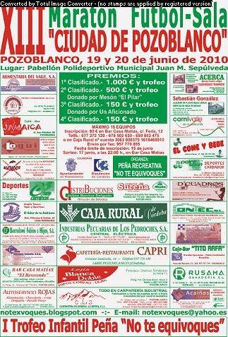 CARTEL DE MARATON 2010