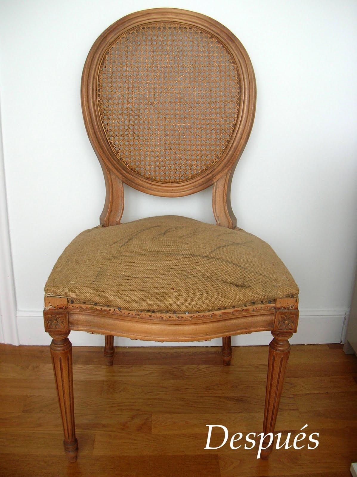 El taller de chlo silla respaldo de rejilla - Reparacion de sillas de rejilla ...