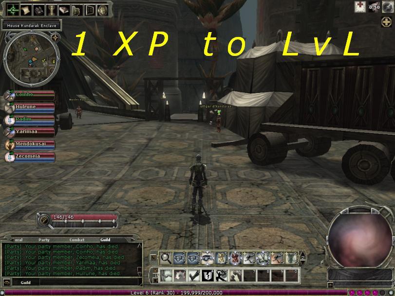 1 XP to LvL