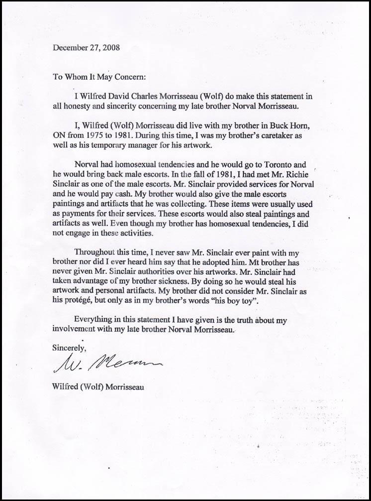affidavit letter format