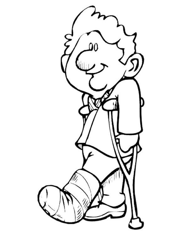 Free Coloring Pages Of Leg Broken Broken Coloring Pages