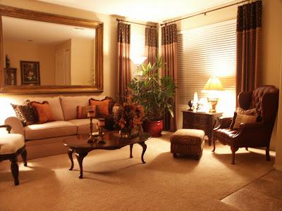 Home Design: Peach Living Room