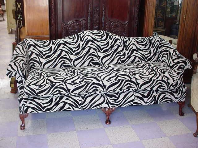 Park Estate Co Amazing Chippendale Sofa Covered In Zebra