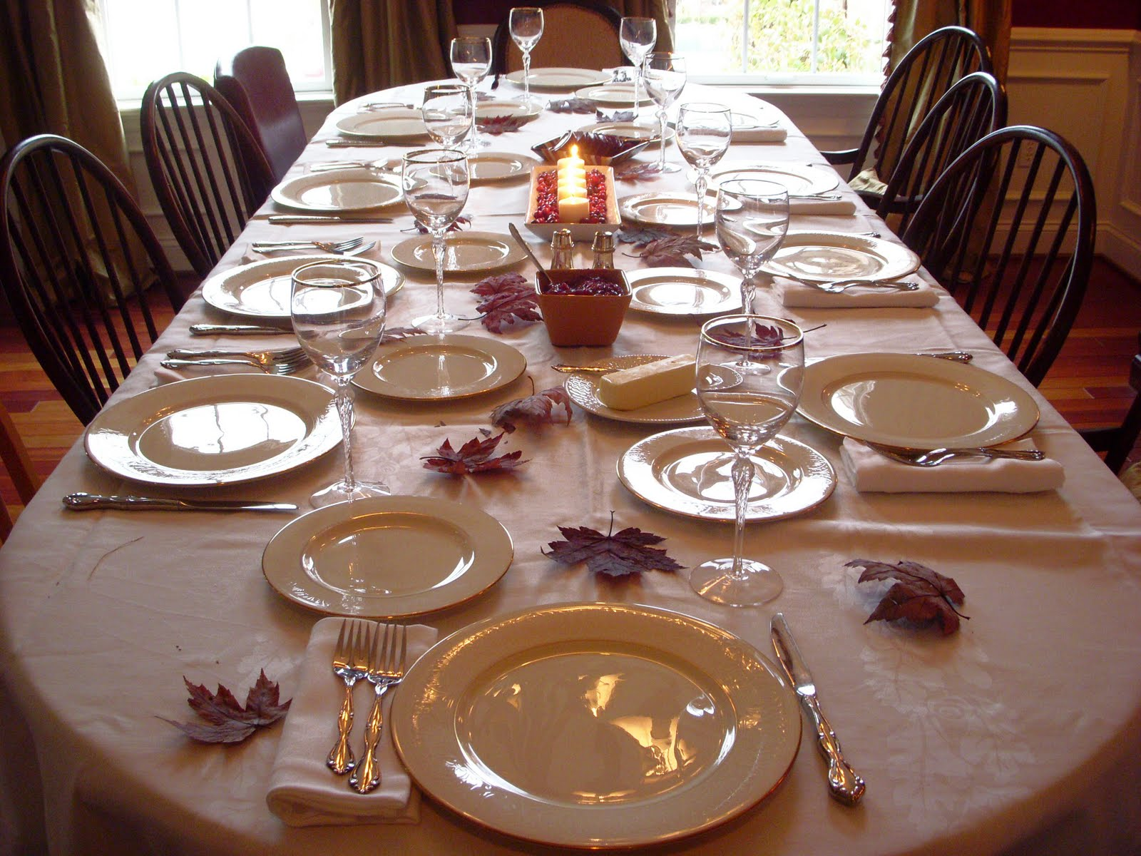 Hope studios thanksgiving wrap up Simple table setting for lunch
