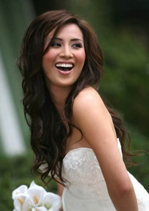 wedding hairstyles medium. Long bride wedding hair styles