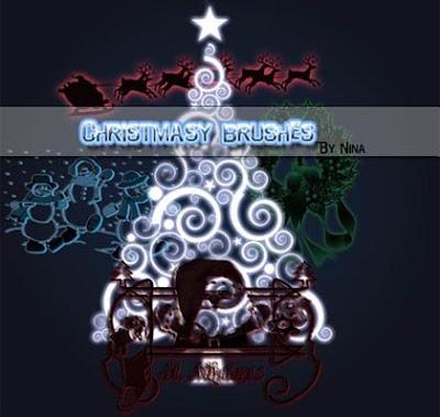 Christmas Brushes By Nina