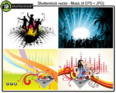 Shuttetstock Amazing Music Vector