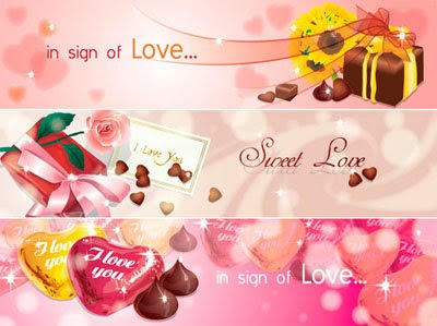 Banner Love Vector