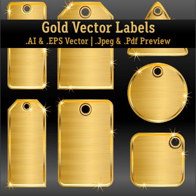 Download Gold Vector Labels