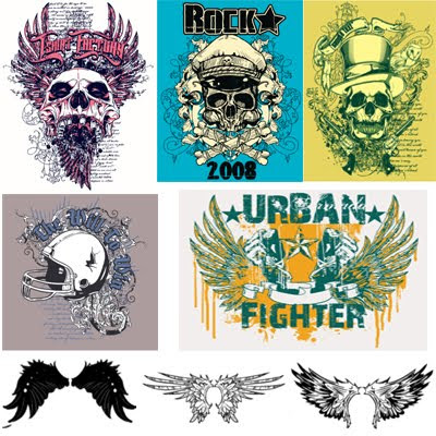 Download Grunge Vector Skulls
