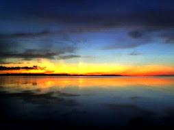 um pôr de sol...