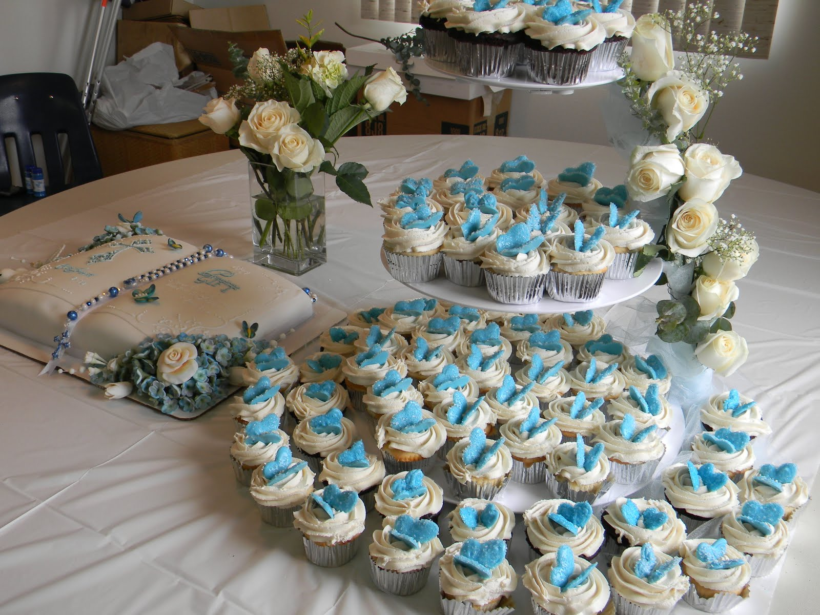 Cake Table Ideas For Christening : Couture Cakes by Angela: Baptism Reception Cake Table