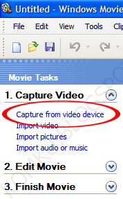 Click to capture from device