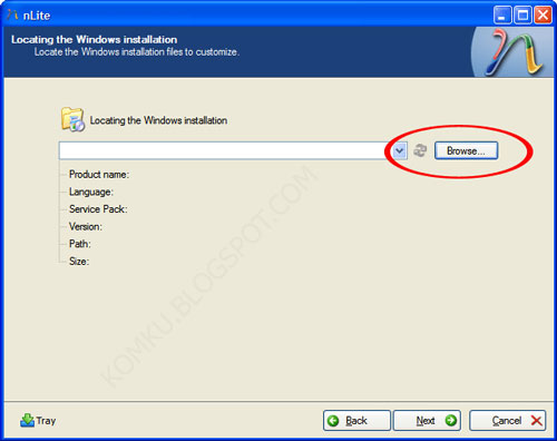 Step 3 - Locating the Windows installation files to costumize
