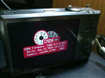 CHDK installed
