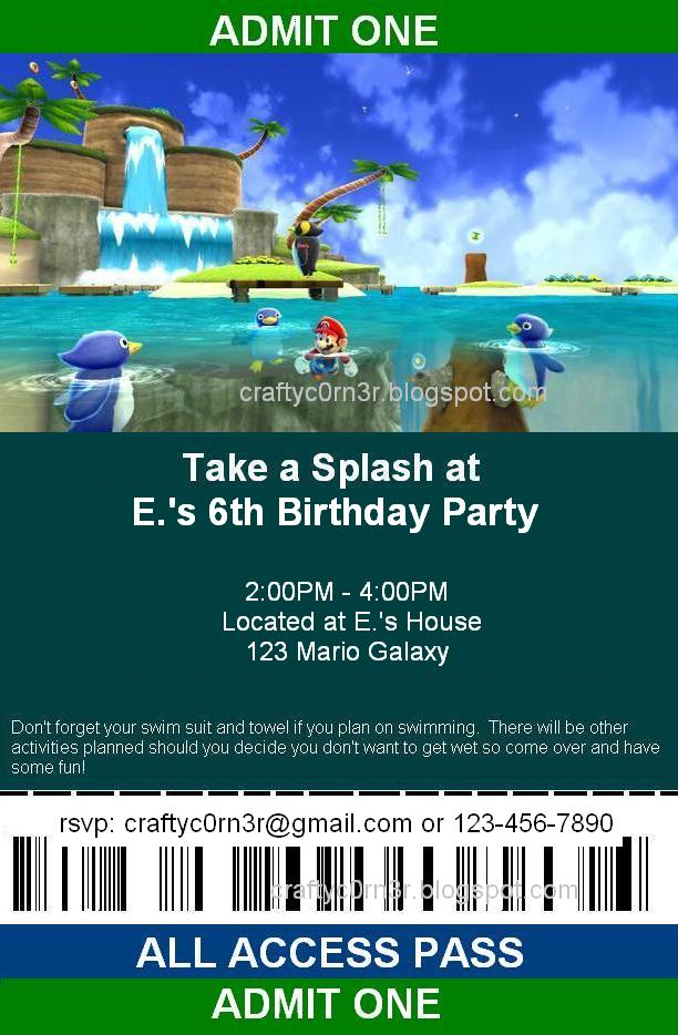 craftyc0rn3r Super Mario Birthday Implementation