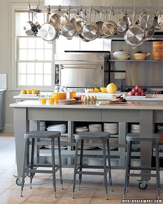 kitchen islands with pot rack