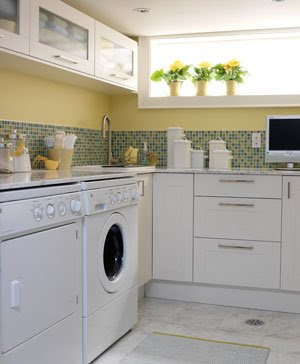 Creates a bright fresh effect that s perfect for a laundry room