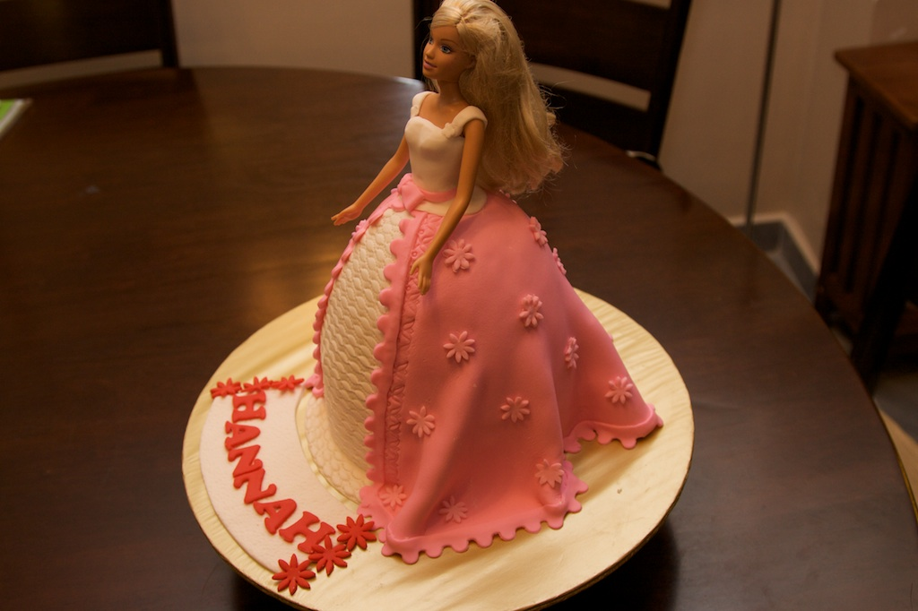 Barbie Fondant Cake Images : Pink Oven Cakes and Cookies: Fondant Barbie Doll Cake