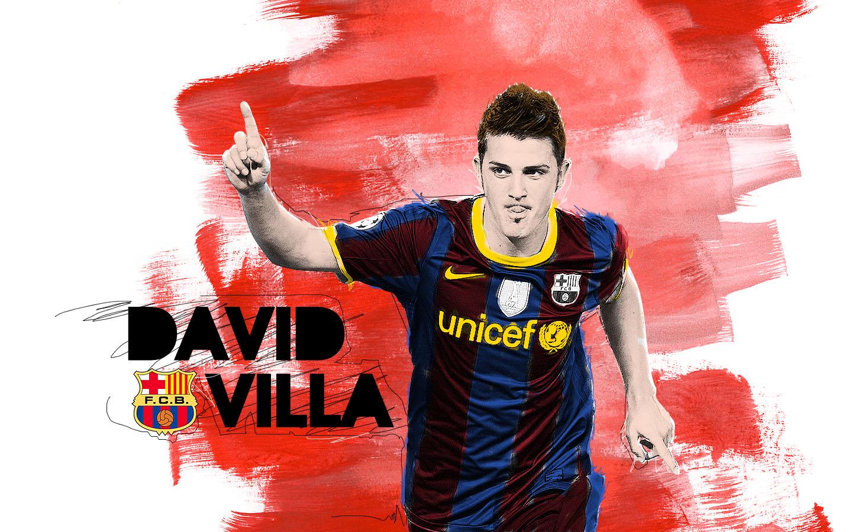 David Villa Artist Soccer