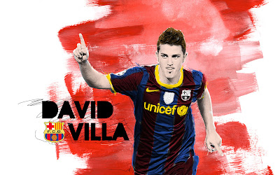 david villa soccer football