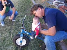 Papa, Daddy, Tony and Tony's Trike