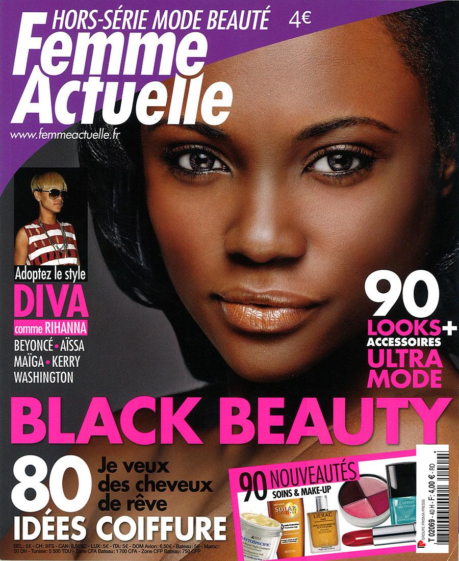 balawou 1er hors s rie mode beaut black beauty lanc par femme actuelle. Black Bedroom Furniture Sets. Home Design Ideas