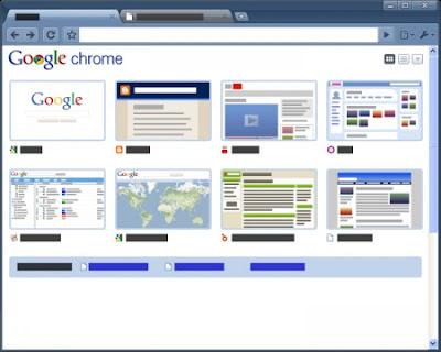 Google Chrome Glossy Blue Tema