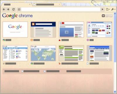 Google Chrome Folders Tema