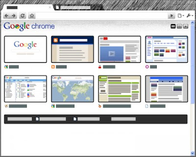 Google Chrome Pencil Sketch Tema