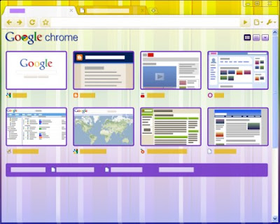 Google Chrome Vertical Stripe Tema