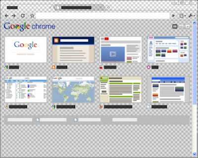 Google Chrome Transparent Tema